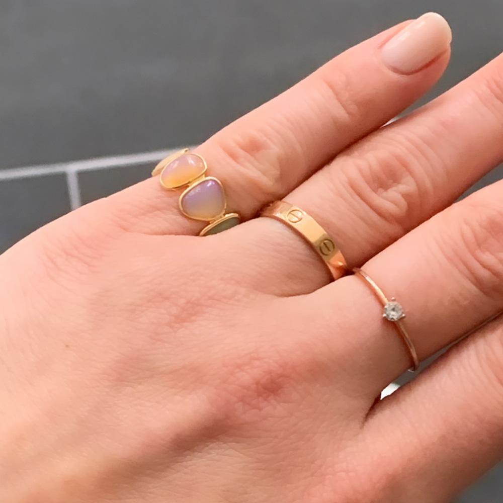 Fire Opal Multi Shape Ring