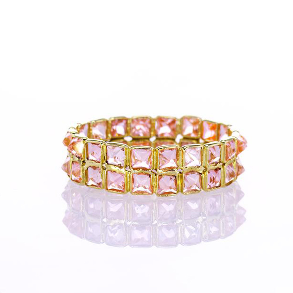 Mini Double Row Pink Sapphire Ring