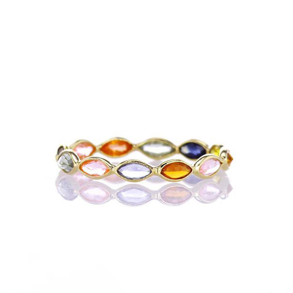 Mini Rainbow Marquise Sapphire Ring