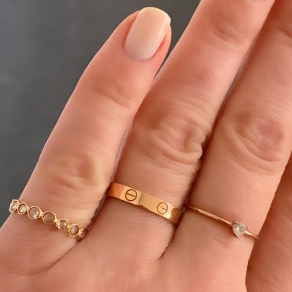Mini Rose Cut Diamond Ring